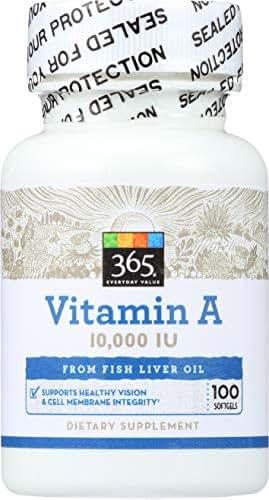 365 Everyday Value, Vitamin A 10 000 IU, 100 ct