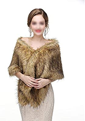 f57b98377159 Belingeya Lady Scialle Sciarpe da Sposa da Donna con Scialle Invernale da  Donna Stole Calde Poncho per Abito da Cerimonia Nuziale Winter Warm Neck  Wrap ...