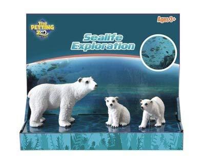 The Petting Zoo Sealife Exploration Toy Set (Polar Bear Family)