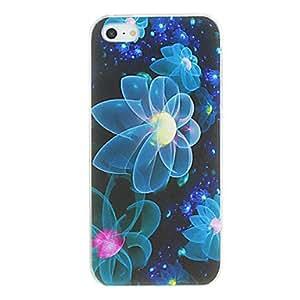 TY-Forma de la flor Jellyfish caso del patrón de la PC dura para el iPhone 5/5S