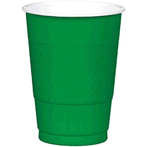 Festive Green Plastic Cups | 16 oz. | Party Supply | 200 ct.