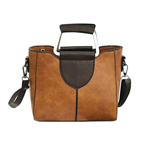 Bamboo Hobo - Sunyastor Women's Fashion Solid Color Leather Designer Purses Shoulder Bags with Corss Body Trendy Bag&Handbag (Brown, one Size)
