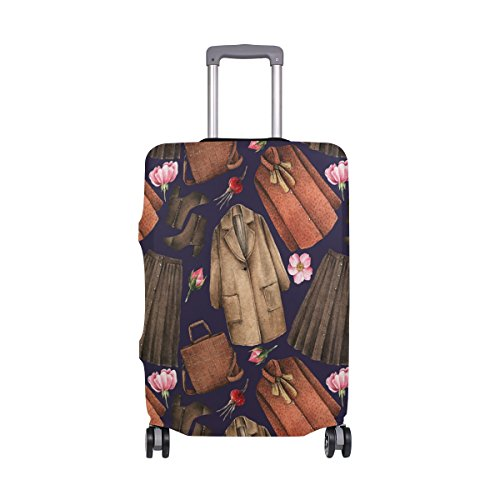 Elastic Travel Luggage Cover Watercolor Coat Skirt Suitcase Protector for 18-20 Inch Luggage by My Little Nest