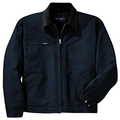 Cornerstone Hooded Work Jacket - Port Authority CornerStone Men's Big And Tall Hooded Drawcord Work Jacket_Navy_XLT