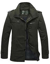 HengJia Men's Fall Fashion Field Coat Casual Outerwear Jacket Military Jacket