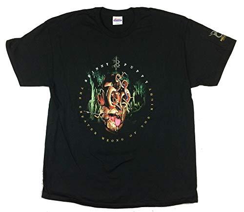 Skinny Puppy Greater Wrong USA CDN Tour T Shirt (L) Black -