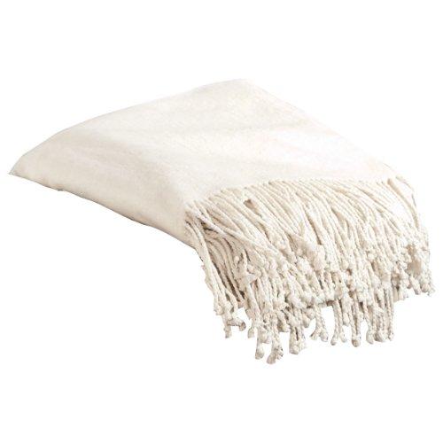 Aus Vio 100-Percent Silk Fleece Throw Blanket - Mulberry Silk Fleece