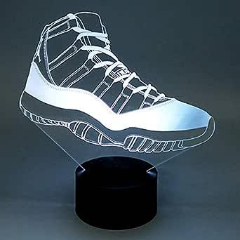 Moderno 7 Colores Led 3D Zapatillas De Deporte Dormitorio ...