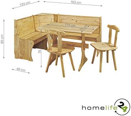 H24living Banco rinconera de Juego Completo Incluye Mesa 2 sillas ...