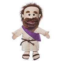 36cm Jesus w/ Rope Belt, Bible Character, Hand Puppet