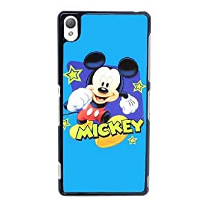 Plastic Cases Sony Xperia Z3 Cell Phone Case Black Mickey Mouse Ubfso Generic Design Back Case Cover