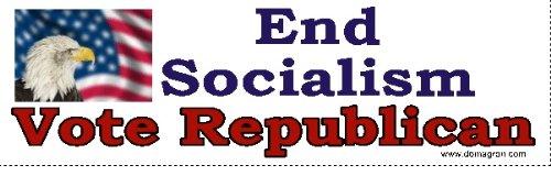 DOMAGRON End Socialism- Vote Republican Bumper Stickers