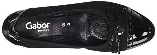 Tacón Comfort Zapatos Mujer 47 de Fashion Shoes Negro para Schwarz Gabor w4UgqAX