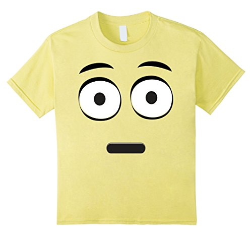 Kids Emoji T-Shirt With A Surprised Face Wide Eyes