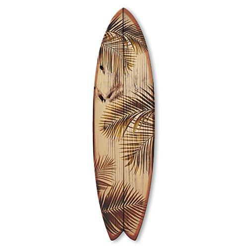 Vertikale Decoración Pared Tabla de Surf Fish Hojas de Palmera de Madera en Bruto 150 x 40 cm: Amazon.es: Hogar