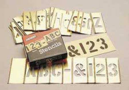 SEPTLS33710073 - C.H. Hanson Brass Stencil Letter Number Sets - 10073