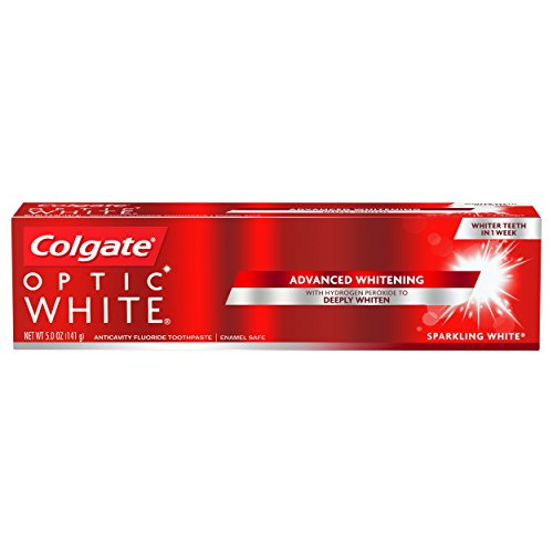 Colgate Optic White Whitening Toothpaste, Sparkling White - 5 ounce