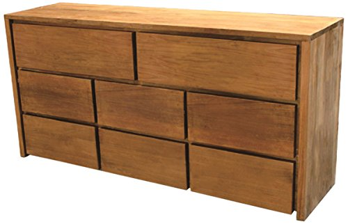 NES Furniture amz10162 Simplie Dresser Fine Handcrafted Solid Teak Wood, 59 inches Natural