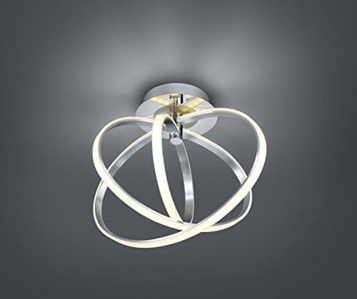 Trio Leuchten LED Deckenleuchte 674312406 Corland, Metall chromfarbig, Acryl weiß, 24 Watt LED