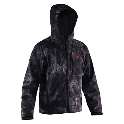 - Grundens Gage Water Resistant Midway Softshell Jacket, Kryptek Typhon Camo, L
