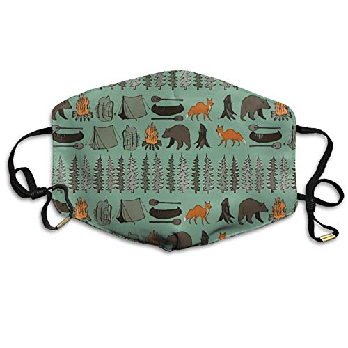 Bear Tent Forest Anti Dust Mouth-Muffle Anti Pollution Mouth Mask Germs Bacteria Virus Smog Nose Elastic Strap