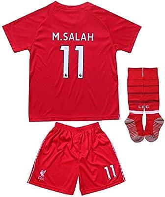 the latest 43c7b 20013 GamesDur Liverpool Mo Salah #11 Home Red Kids Soccer Jersey ...