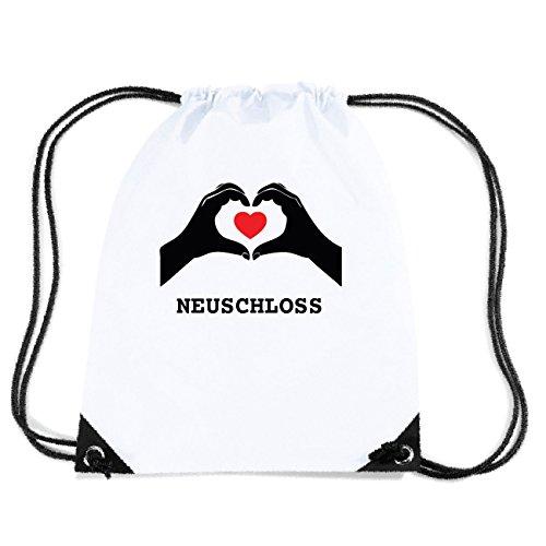 JOllify NEUSCHLOSS Turnbeutel Tasche GYM4168 Design: Hände Herz