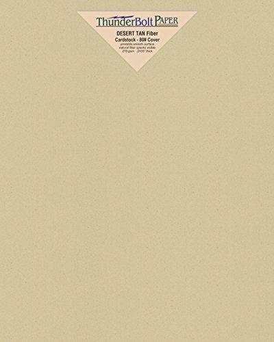 25 hojas de papel de cartulina con acabado de fibra de tanque de desierto, 20 x 25 cm, tamaño de fotograma – 80 lb/libra...