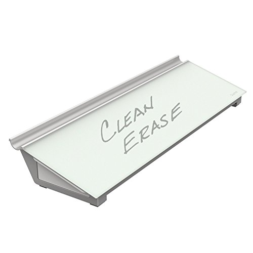 Quartet Office - Quartet Glass Dry Erase Board, Desktop Computer Pad Whiteboard/White Board with Pullout Storage Drawer, 18