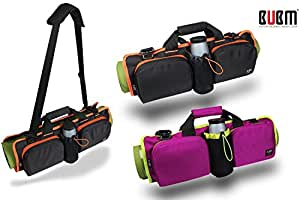 Brand-box Yoga Mat Bag Multi-Purpose Adjustable Shoulder Bag Handbag Tote Bags (Black)