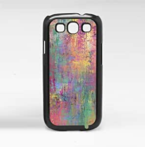 Colorful Paint on Canvas Hard Snap on Phone Case (Galaxy s3 III)