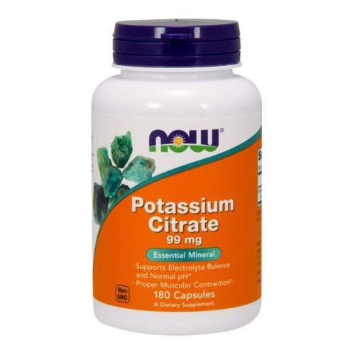 NOW Supplements, Potassium Citrate, 180 Veg Capsules