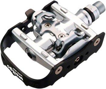 Wellgo WPD-95B Clipless/Clip Platform PedalsBlack/Silver ...