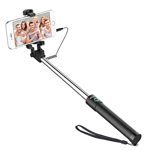 JETech Battery Free Selfie Stick Extendable Cable