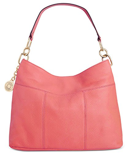 Tommy Hilfiger Th Signature Leather Small Hobo, Dusty Rose by Tommy Hilfiger