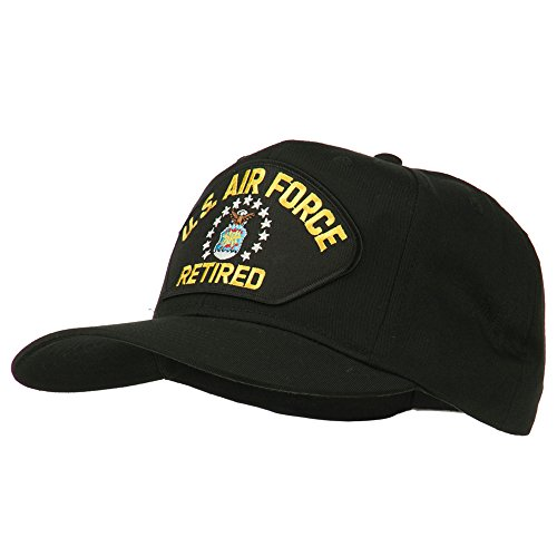 us-air-force-retired-military-patched-cap-black-osfm