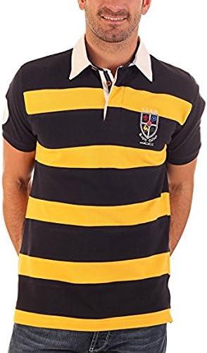 CLK Polo - Polo Piqué Rugby De Manga Corta Amarillo Y Azul ...