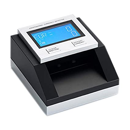 Yatek Detector Billetes Falsos Euro, Dolar, Libras y SEK Cuenta y Suma Billetes,