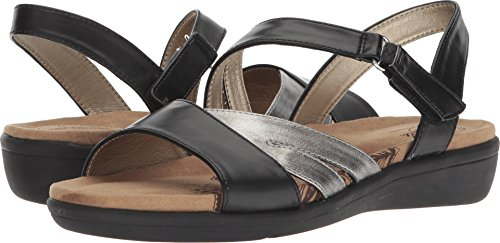 Soft Style Shoes - Soft Style by Hush Puppies Women's Pavi Sandal, Black Vitello, 08.0 W US
