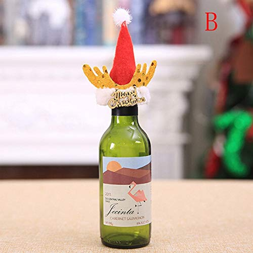 Party Diy Decorations - Christmas Wine Bottle Cover Holders Xmas Hat Sets Merry Deer Horn Festival Party Table Decor Kid - Decorations Party Party Decorations Climbing Rope Wine Halloween