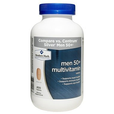 Member's Mark Men 50+ Multivitamin Dietary Supplement (400 ct.)