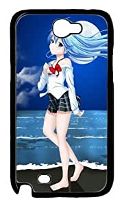 Beautiful Anime Girls Polycarbonate Hard Case Cover for Samsung Galaxy Note 2/ Note II/ N7100 Black