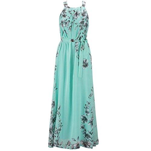 de Grande Elegante Taille 6XL bohme Robe Manches Bleu Robe de Robe Taille S Femme Cocktail Imprim t Sans Longue Plage Uarwa64nq