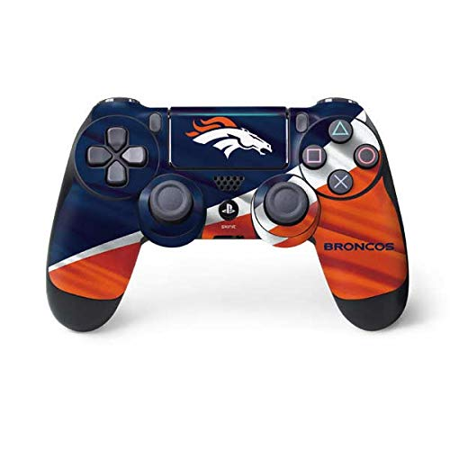 Skinit Denver Broncos PS4 Pro/Slim Controller Skin - Officially Licensed NFL Gaming Decal - Ultra Thin, Lightweight Vinyl Decal Protection