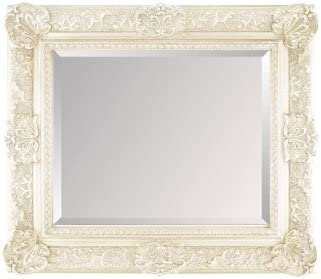 Fabulous Mirrors Large French White Ornate Embossed Shabby Chic Framed Bevelled Wall Overmantle Mirror 46inch X 34inch 117cm X 86cm Stunning Quality Ready To Hang Itv Show Supplier Amazon Co Uk Kitchen