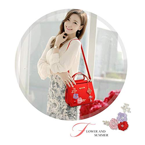 ANLEI Paquet 17 Sac CM Red1 Main 23 Femmes Mode À Bandoulière Sac Brodé Couleurs LP À 10 PU Diagonal La 1658 8 rrOwHqxdR