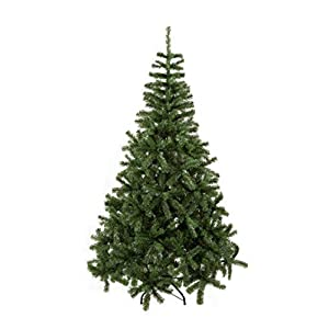 GOJOOASIS Artificial Christmas Tree Premium Spruce Hinged with Metal Stand Green