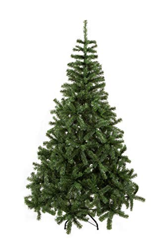 GOJOOASIS 5' Artificial Christmas Tree Premium Spruce Hinged with Metal Stand Eco-Friendly Xmas Pine Tree Green