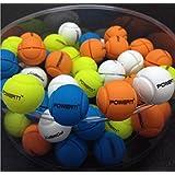 CUSHY 1 Pieza Amortiguador de Vibraciones Original POWERTI Pelotas de Tenis Tenis de diseño para Reducir la Raqueta Tenis Antivibradores Raqueta Tenis: Amarillo