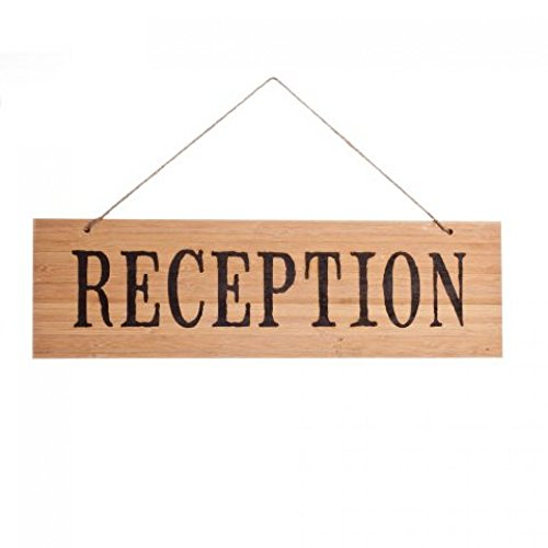 UPC 887394032820, Koyal Wholesale Rustic Natural Wood Arrow Wedding Sign, Reception